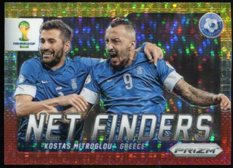2014 Panini Prizm World Cup Net Finders Prizms Yellow and Red Pulsar #13 Kostas Mitroglou