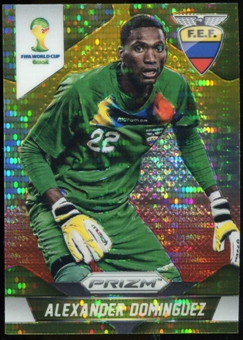 2014 Panini Prizm World Cup Prizms Yellow and Red Pulsar #63 Alexander Dominguez