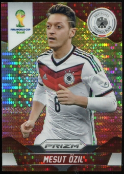 2014 Panini Prizm World Cup Prizms Yellow and Red Pulsar #88 Mesut Ozil