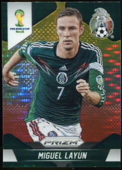 2014 Panini Prizm World Cup Prizms Yellow and Red Pulsar #144 Miguel Layun