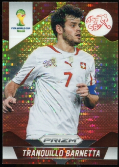 2014 Panini Prizm World Cup Prizms Yellow and Red Pulsar #185 Tranquillo Barnetta