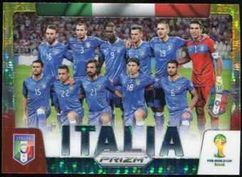2014 Panini Prizm World Cup Team Photos Prizms Yellow and Red Pulsar #22 Italia