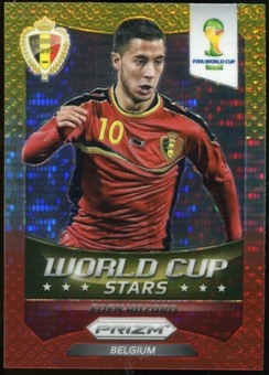 2014 Panini Prizm World Cup World Cup Stars Prizms Yellow Red Pulsar #3 Eden Hazard