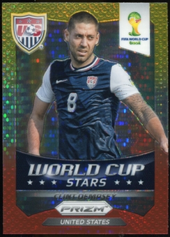 2014 Panini Prizm World Cup World Cup Stars Prizms Yellow Red Pulsar #38 Clint Dempsey