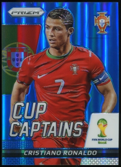 2014 Panini Prizm World Cup Cup Captains Prizms Blue #5 Cristiano Ronaldo /199