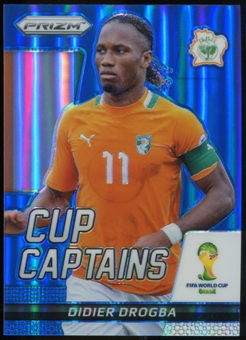 2014 Panini Prizm World Cup Cup Captains Prizms Blue #7 Didier Drogba /199