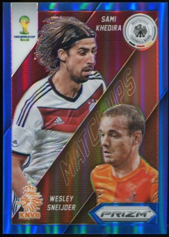 2014 Panini Prizm World Cup World Cup Matchups Prizms Blue #27 Sami Khedira/Wesley Sneijder /199