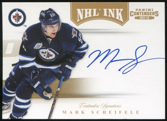 2011/12 Panini Contenders NHL Ink Gold #69 Mark Scheifele Auto 8/25