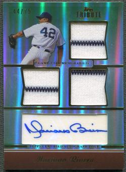 2011 Topps Tribute #MR Mariano Rivera Green Jersey Auto #44/75