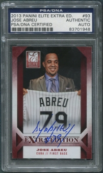 2013 Elite Extra Edition #93 Jose Abreu Rookie Auto PSA DNA