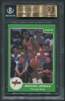 1985 Star Gatorade Slam Dunk #7 Michael Jordan BGS 9.5 (GEM MINT) *9304