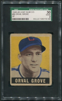 1948 Leaf Baseball #66 Orval Grove SGC 30 2 (GOOD) *5140