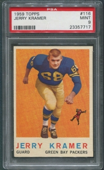 1959 Topps Football #116 Jerry Kramer Rookie PSA 9 (MINT) *7717