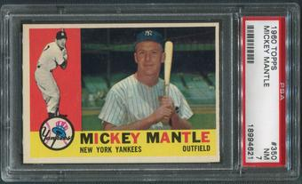 1960 Topps Baseball #350 Mickey Mantle PSA 7 (NM) *4621