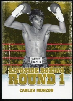 2010 Ringside Boxing Round One Gold #8 Carlos Monzon