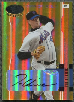 2003 Leaf Certified Materials #113 Tom Glavine Mirror Gold Auto #5/5