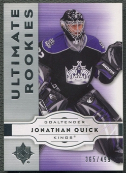 2007/08 Ultimate Collection #96 Jonathan Quick Rookie #365/499
