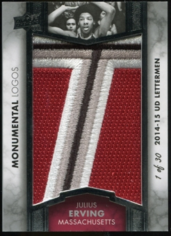 2014/15 Upper Deck Lettermen Julius Erving Monumental Logos Patch Serial #'d 1 of 30
