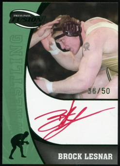 2009 Press Pass Fusion Autograph RED #SSBL Brock Lesnar /50