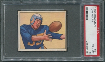 1950 Bowman Football #51 Tom Fears Rookie PSA 6 (EX-MT) *8415