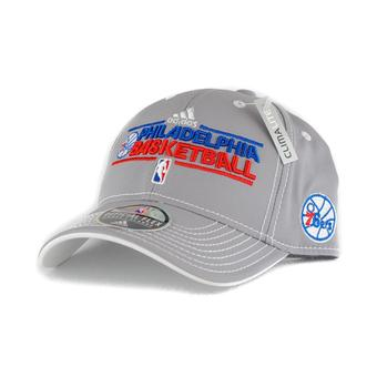 Philadelphia 76ers Adidas NBA Official Practice Grey Climalite Flex Fit Hat (Adult S/M)