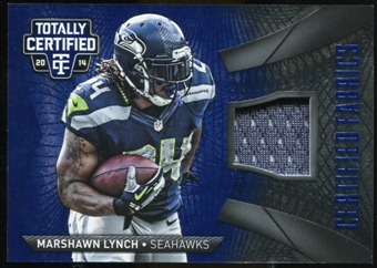 2014 Totally Certified Certified Fabrics Blue #CFML Marshawn Lynch #43/50