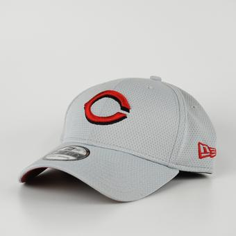 Cincinnati Reds New Era Grey 39Thirty Double Timer Flex Fit Hat