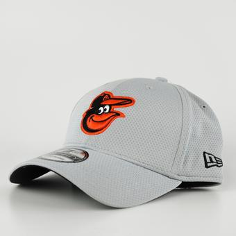Baltimore Orioles New Era Grey 39Thirty Double Timer Flex Fit Hat