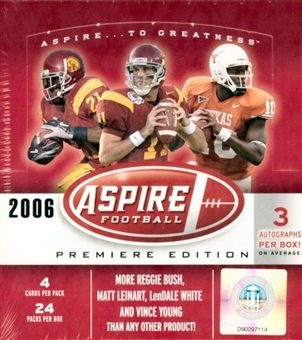 2006 Sage Aspire Football Hobby Box