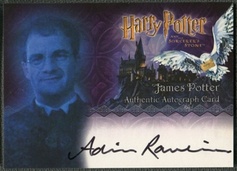 2005 Harry Potter and the Sorcerer's Stone #4 Adrian Rawlins as James Potter Auto