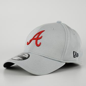 Atlanta Braves New Era Grey 39Thirty Double Timer Flex Fit Hat (Adult S/M)