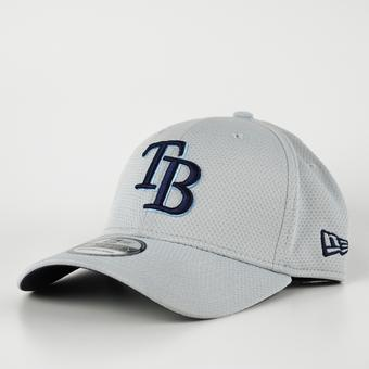 Tampa Bay Rays New Era Grey 39Thirty Double Timer Flex Fit Hat (Adult S/M)