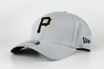 Pittsburgh Pirates New Era Grey 39Thirty Double Timer Flex Fit Hat (Adult S/M)