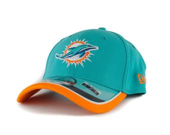 Miami Dolphins New Era Aqua Team Colors 39Thirty On Field Fitted Hat