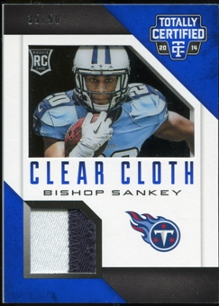 2014 Totally Certified Rookie Clear Cloth Prime Blue #RCCBS Bishop Sankey Serial # 35/50
