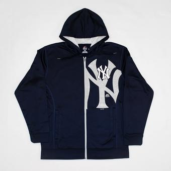 New York Yankees Majestic Navy Bring It Home Full Zip Hoodie (Adult M)