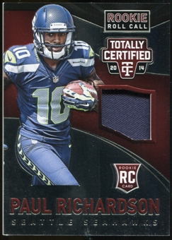2014 Totally Certified Rookie Roll Call Jerseys Red #RCCPR Paul Richardson #92/100