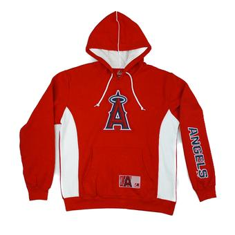 Los Angeles Angels Majestic Red Stadium Wear Team Logo Hoodie (Adult M)