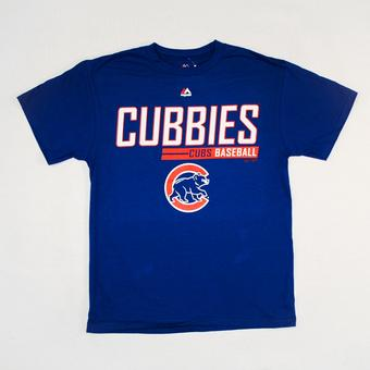 Chicago Cubs Majestic Blue Laser Like Focus Tee Shirt