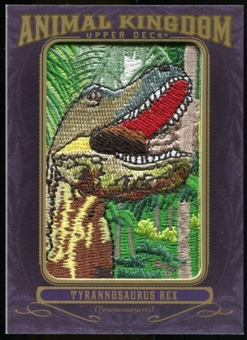 2012 Upper Deck Goodwin Champions Animal Kingdom Patches #AK198 Tyrannosaurus Rex EX