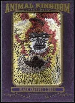 2012 Upper Deck Goodwin Champions Animal Kingdom Patches #AK196 Black Creasted Gibbon