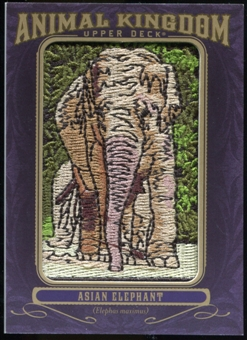 2012 Upper Deck Goodwin Champions Animal Kingdom Patches #AK181 Asian Elephant