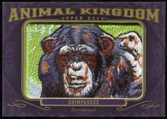 2012 Upper Deck Goodwin Champions Animal Kingdom Patches #AK172 Chimpanzee