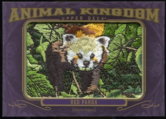 2012 Upper Deck Goodwin Champions Animal Kingdom Patches #AK166 Red Panda