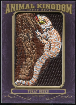 2012 Upper Deck Goodwin Champions Animal Kingdom Patches #AK114 Torkay Gecko