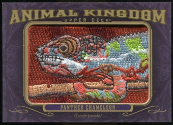2012 Upper Deck Goodwin Champions Animal Kingdom Patches #AK109 Panther Chameleon