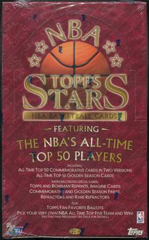 1996/97 Topps Stars Basketball Retail 20 Pack Box