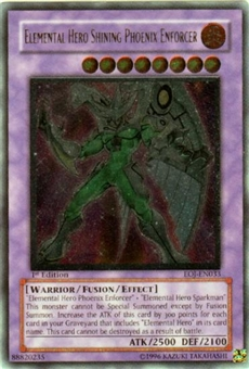 Yu-Gi-Oh Enemy of Justice Single Elemental Hero Shining Phoenix Enforcer Ultimate Rare
