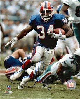 Thurman Thomas Autographed Buffalo Bills 16x20 Football Photo JSA