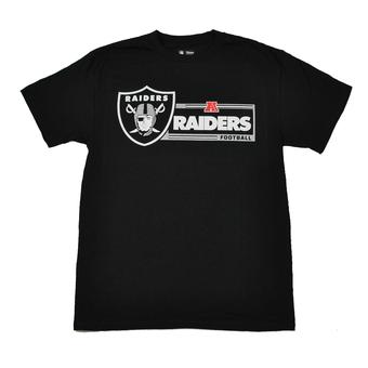 Oakland Raiders Majestic Black Critical Victory VII Tee Shirt (Adult M)